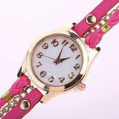 Black Fashion Casual Wrist Watch Le..
