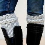 Light Grey Boot Toppers, Light Gray..