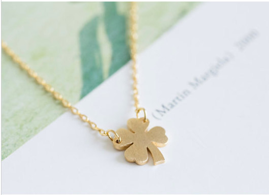 Free shipping four leaf clover necklace lucky irish necklace gold free shipping four leaf clover necklace lucky irish necklace gold shamrock necklace 18k gold plated silver platedrose gold plated n1 aloadofball Gallery