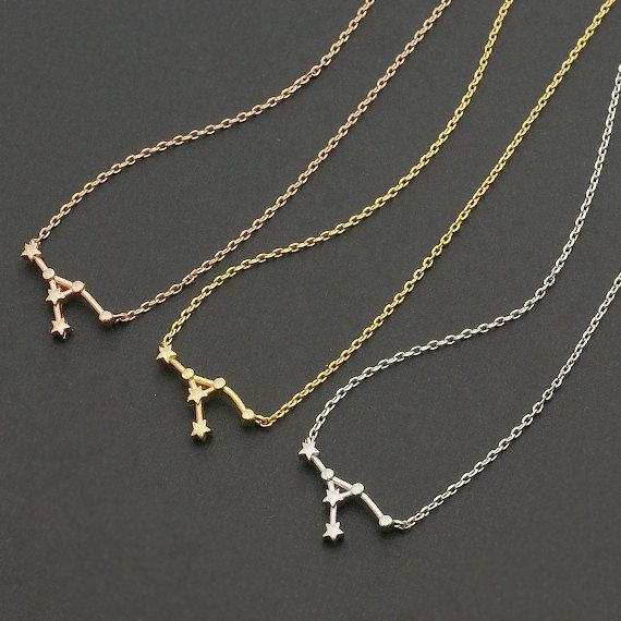 Cancer Zodiac Sign Necklace Astrology Constellation Jewelry For Women Star Birthday