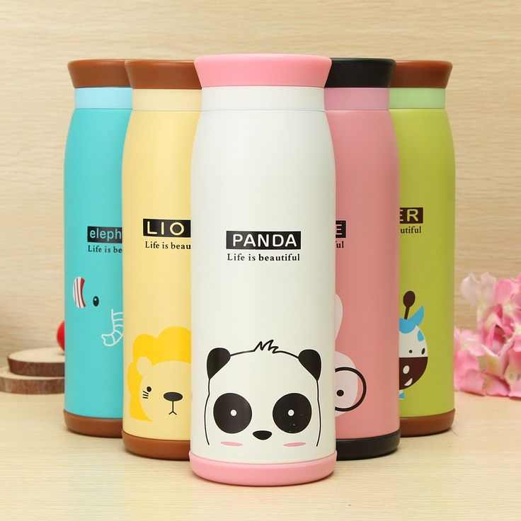 500ml Colourful Cute Cartoon Animal Kid Vacuum Flasks