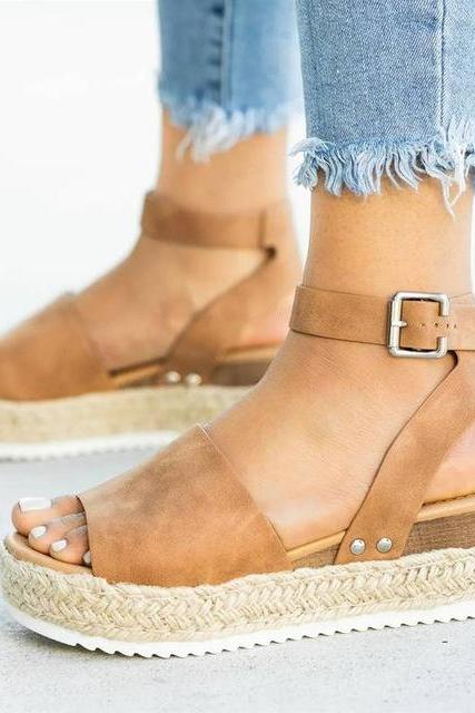 Wedges Shoes For Women High Heels Sandals Summer Shoes 2019 Flop Chaussures Femme Platform Sandals 2019 Plus Size