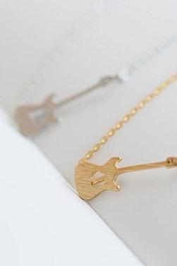 Gold Silver Rose Gold Hippie Guitar Necklace Boho Chic Necklaces For Women Necklace Female N7