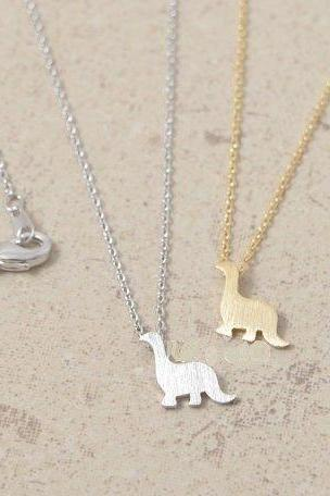 FREE SHIPPING Cute dinosaur necklace, Dinosaur Jewelry, Animal Necklaces, Girls Necklaces, Unique Necklaces, Womens Necklace (N25)