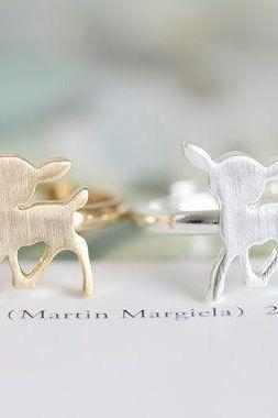Deer Ring, Antler Ring, Bambi, Children Jewelry
