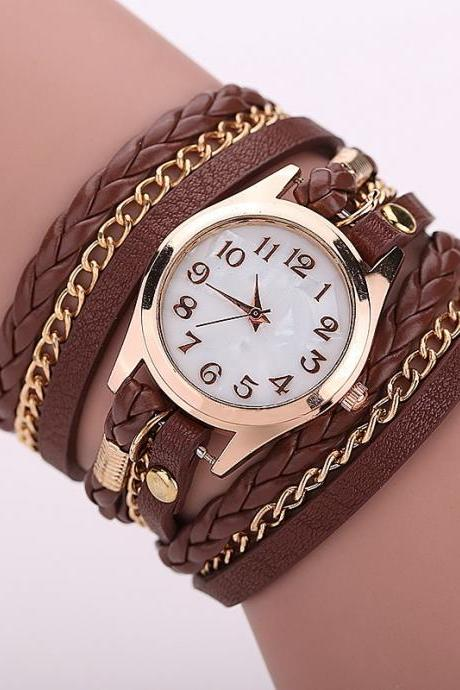 Brown Fashion Casual Wrist Watch Leather Bracelet Women Watches Relogio Feminino BW1071