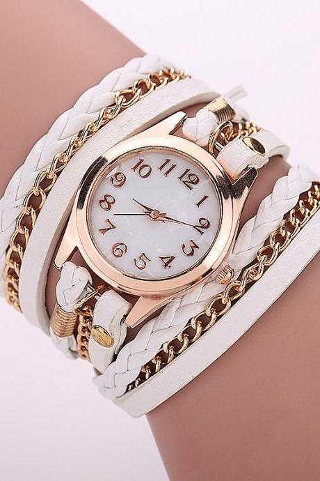 White Fashion Casual Wrist Watch Leather Bracelet Women Watches Relogio Feminino BW1071