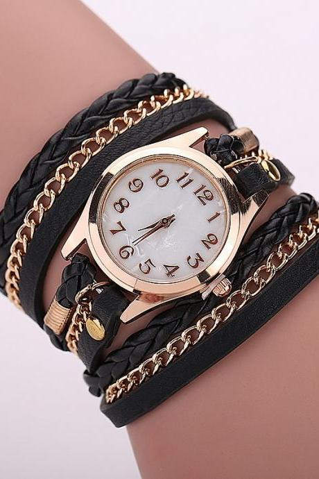 Black Fashion Casual Wrist Watch Leather Bracelet Women Watches Relogio Feminino BW1071