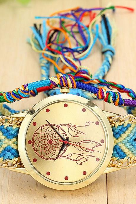 Friendship watch, fashion watch, best friend gift, dream catcher watch, 8 colors available