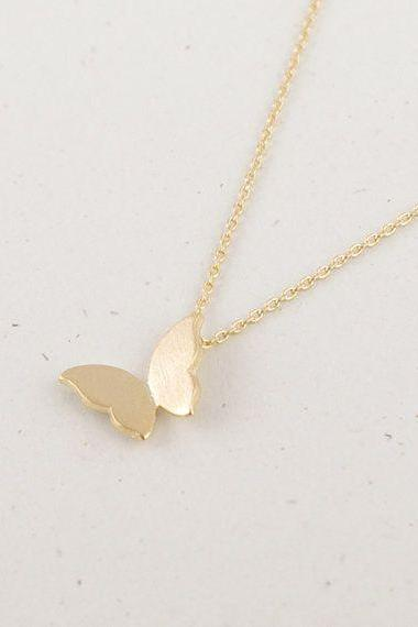 Animal necklace, gold butterfly necklace,gold necklace, dainty necklace, tiny necklace, everyday necklace, delicate jewelry, gift for her