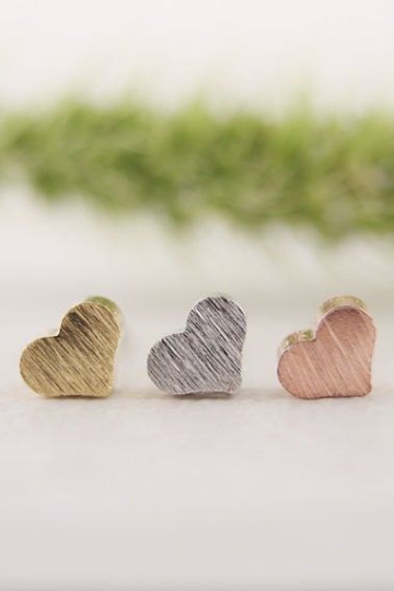 Tiny Heart Earrings, Valentines Day Love, Mother's Day, Gift for her