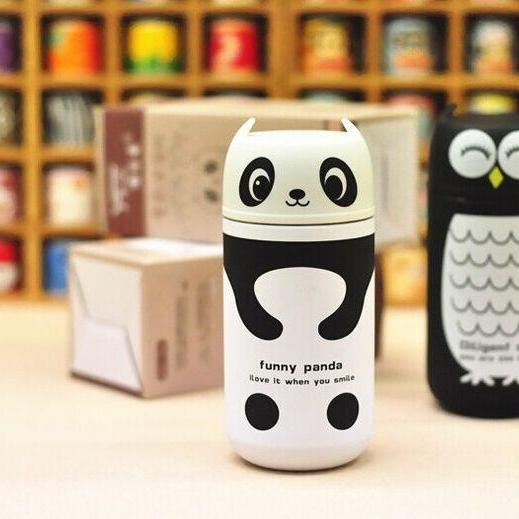 Cute Panda & Owl Vacuum Cup, Cartoon Animal, Vacuum Cup, light and portable ,kids water bottle, Vacuum Flasks