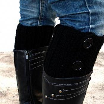 Black Boot Toppers, Black ..